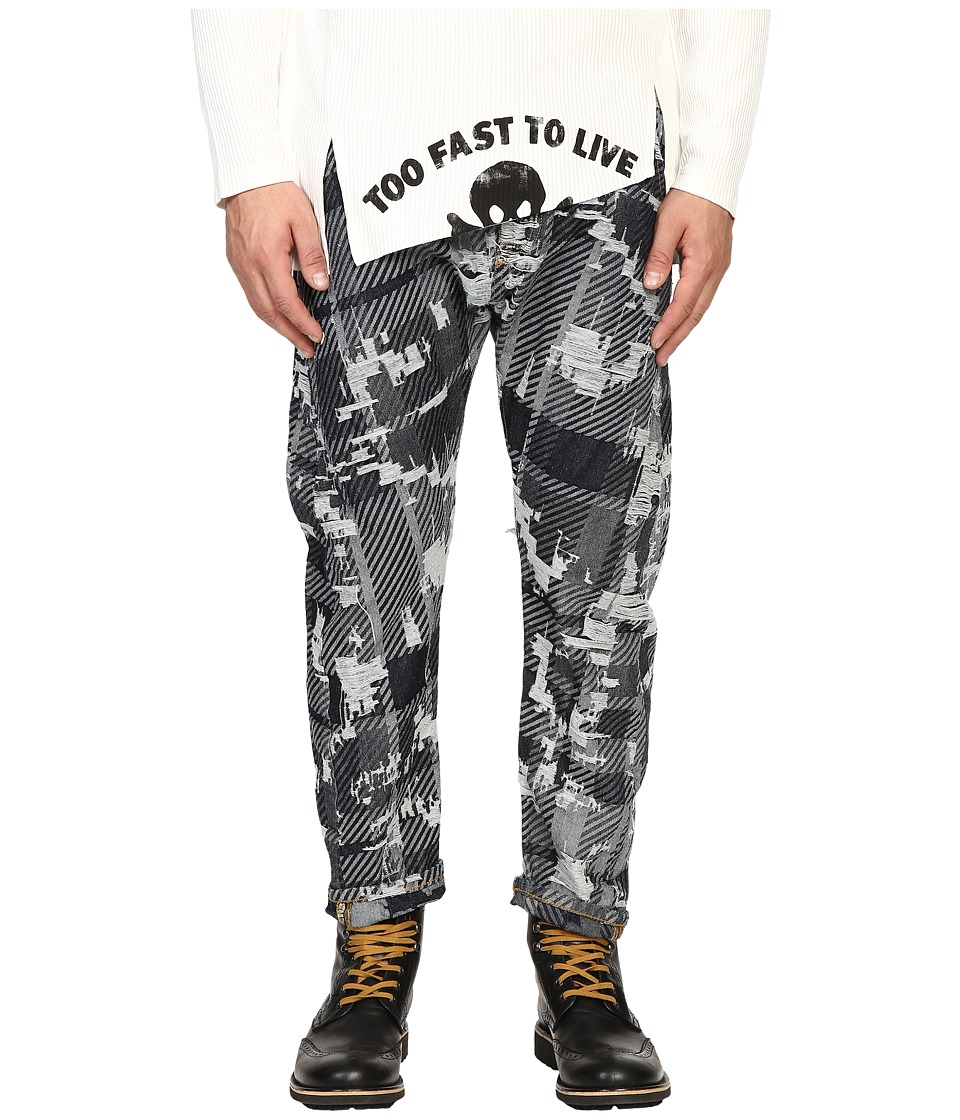 Vivienne Westwood - Anglomania Banana Crop Jeans in Blue Denim (Blue Denim) Men's Jeans
