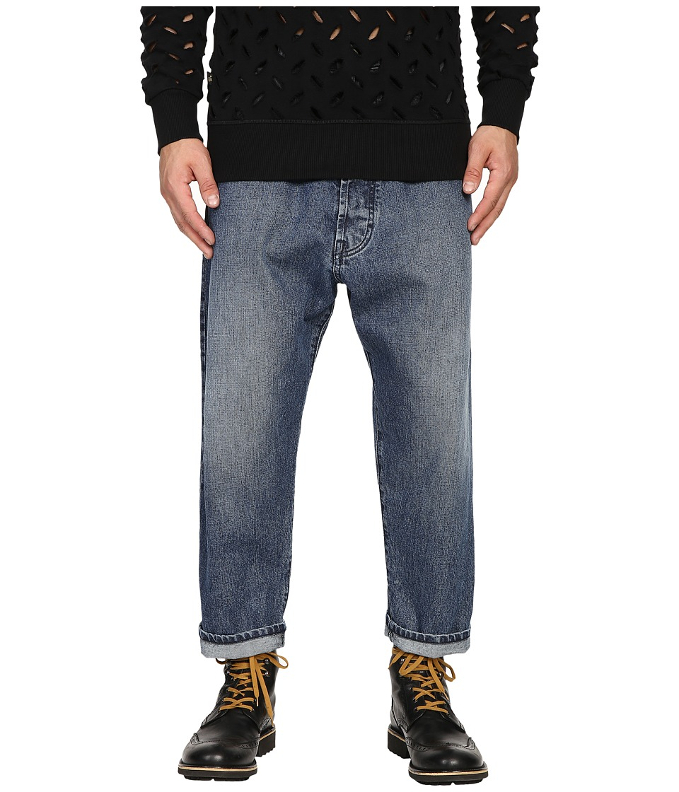 Vivienne Westwood - Anglomania Samurai Crop Jeans in Blue Denim (Blue Denim) Men's Jeans