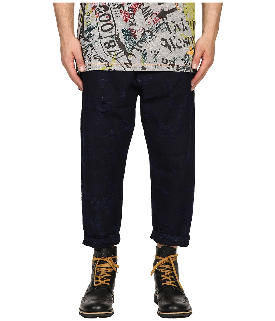 Vivienne Westwood - Anglomania Samurai Crop Jeans in Blue Denim (Blue Denim) Men's Jeans