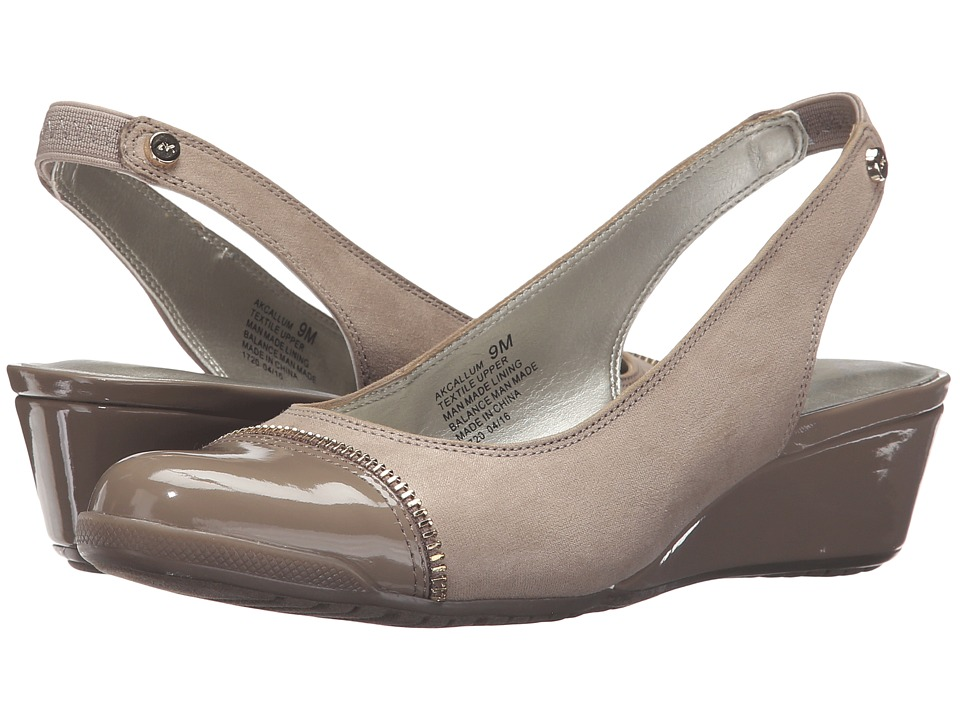 Anne Klein Callum (Taupe/Taupe Fabric) Women
