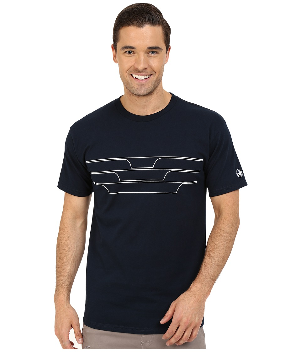 Body Glove - 47151-Split Peak Tee (Indigo) Men's T Shirt