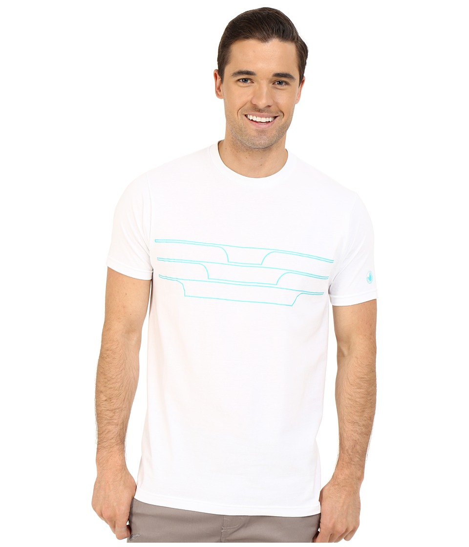 Body Glove - 47151-Split Peak Tee (White) Men's T Shirt