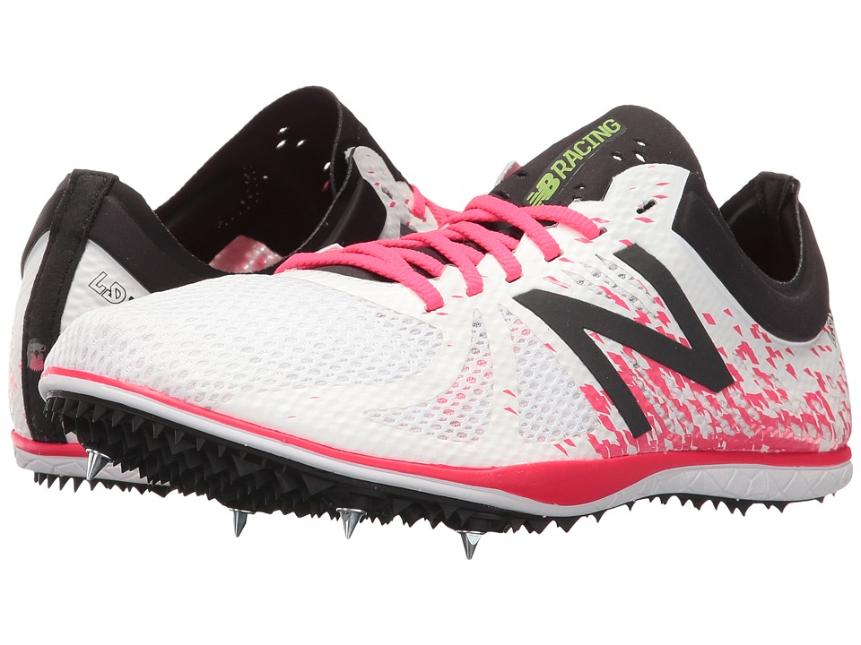 New Balance - LD500v4 Long Distance Spike (White/Pink) Women's Shoes