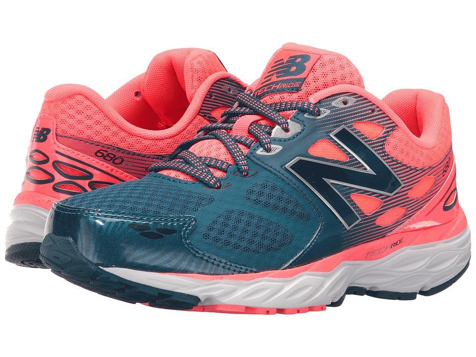 New Balance - W680v3 (Blue/Pink) Women's Running Shoes