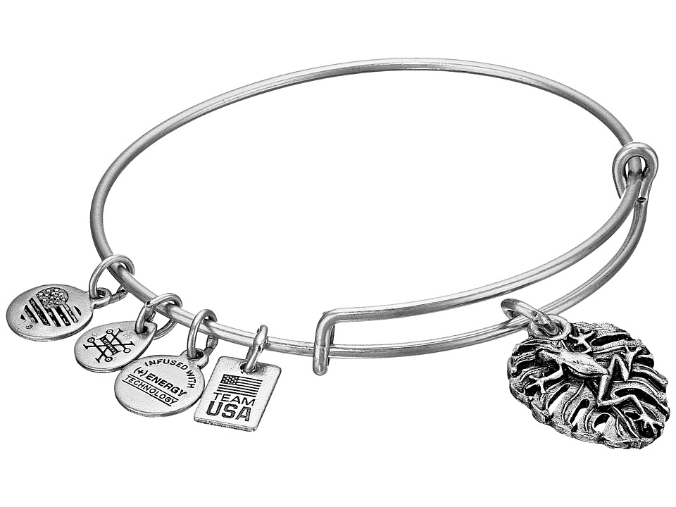 Alex and Ani - TEAM USA Frog Bangle (Silver) Bracelet