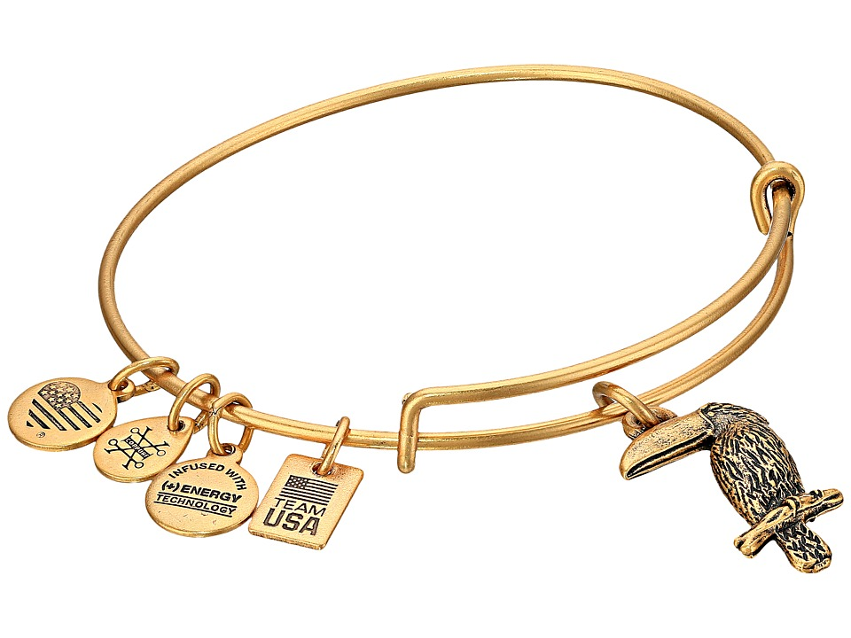 Alex and Ani - TEAM USA Toucan Bangle (Gold) Bracelet