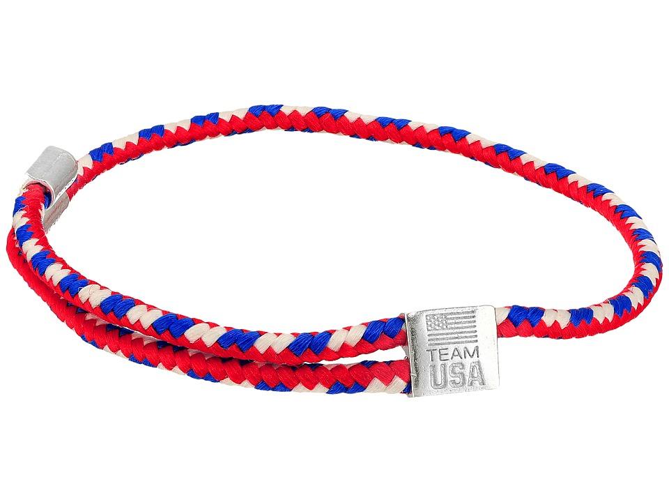 Alex and Ani - Hope Rope USA Bracelet (Silver) Bracelet