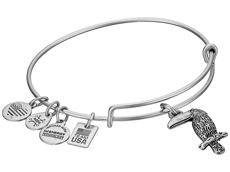 Alex and Ani - TEAM USA Toucan Bangle (Silver) Bracelet