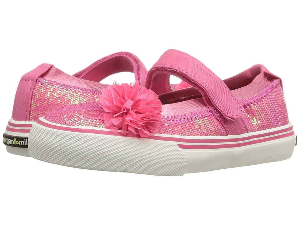 Morgan&Milo Kids - Twinkle Mary Jane (Toddler/Little Kid) (Pink Berry) Girls Shoes