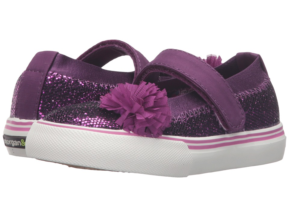 Morgan&Milo Kids - Twinkle Mary Jane (Toddler/Little Kid) (Eggplant) Girls Shoes