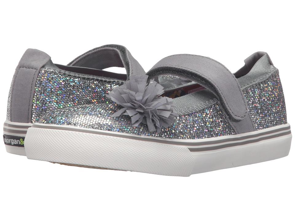 Morgan&Milo Kids - Twinkle Mary Jane (Toddler/Little Kid) (Dark Grey) Girls Shoes