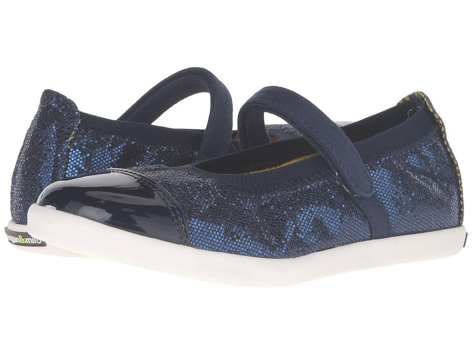 Morgan&Milo Kids - Siena Mary Jane (Toddler/Little Kid) (Midnight Navy) Girls Shoes