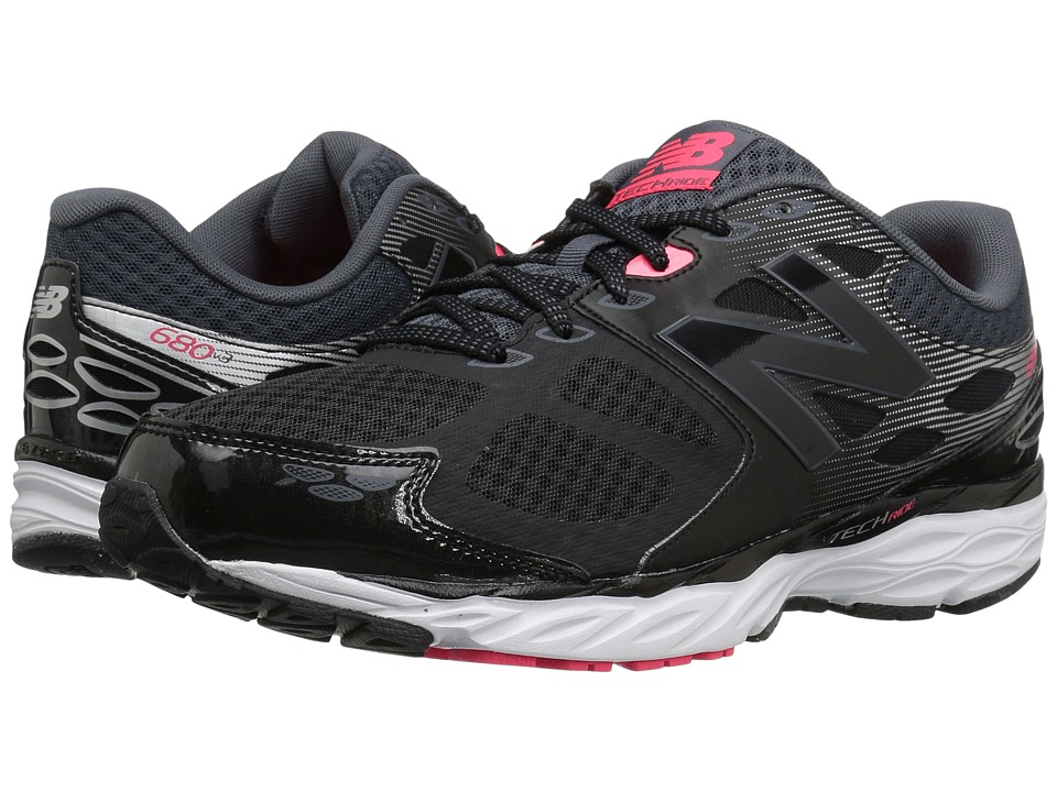New Balance - M680v3 (Black/Bright Cherry) Men's Running Shoes