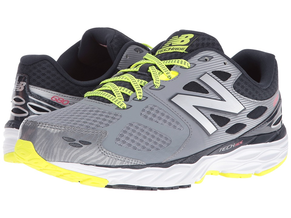 New Balance - M680v3 (Grey/Firefly) Men's Running Shoes