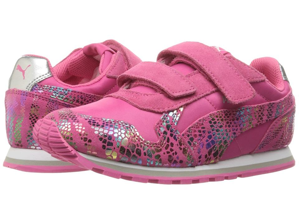 Puma Kids ST Runner Sportlux V (Little Kid/Big Kid) (Fandango Pink/Puma Silver) Girls Shoes