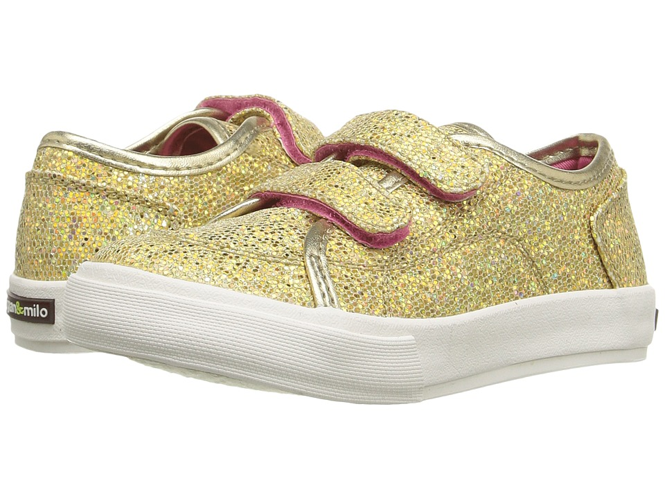 Morgan&Milo Kids - Lily Double V (Toddler/Little Kid) (Champagne) Girls Shoes