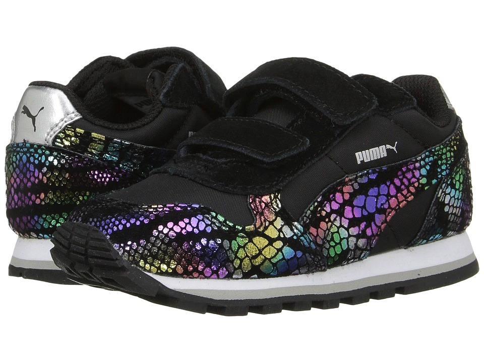 Puma Kids ST Runner Sportlux V (Toddler) (Puma Black/Puma Silver) Girls Shoes