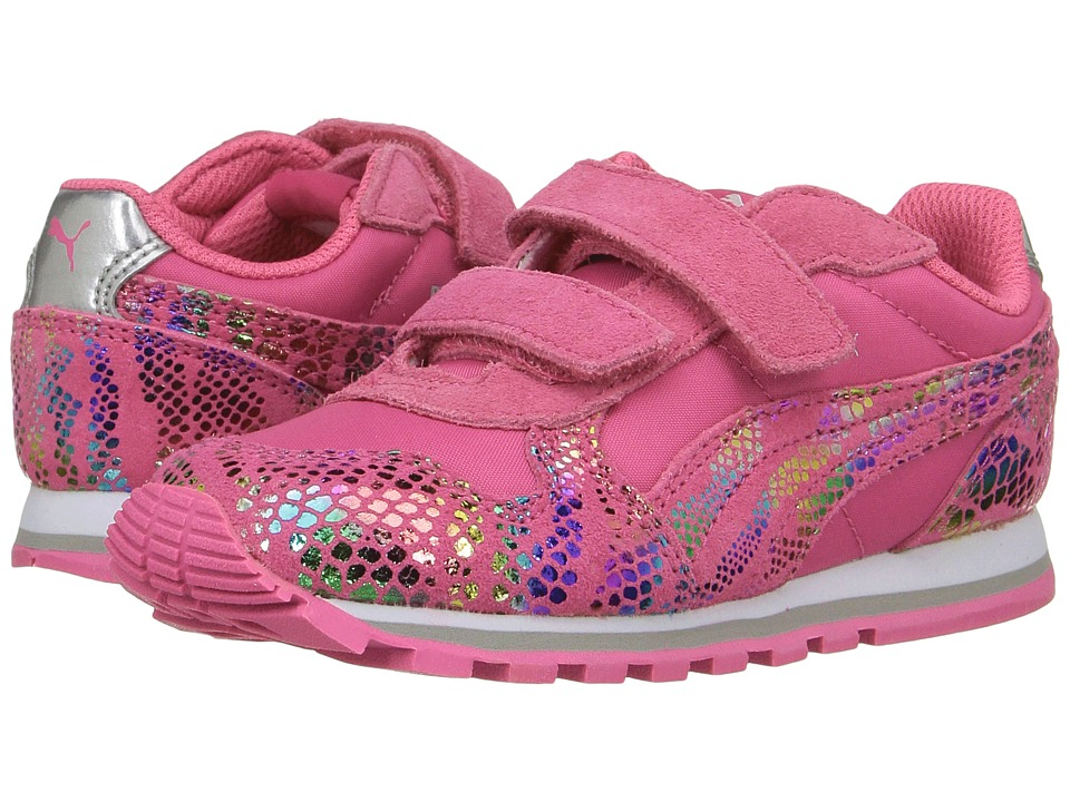 Puma Kids ST Runner Sportlux V (Toddler) (Fandango Pink/Puma Silver) Girls Shoes