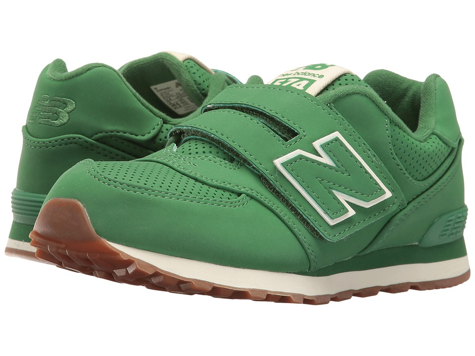 New Balance Kids - KV574v1 (Infant/Toddler) (Green/Green) Kids Shoes