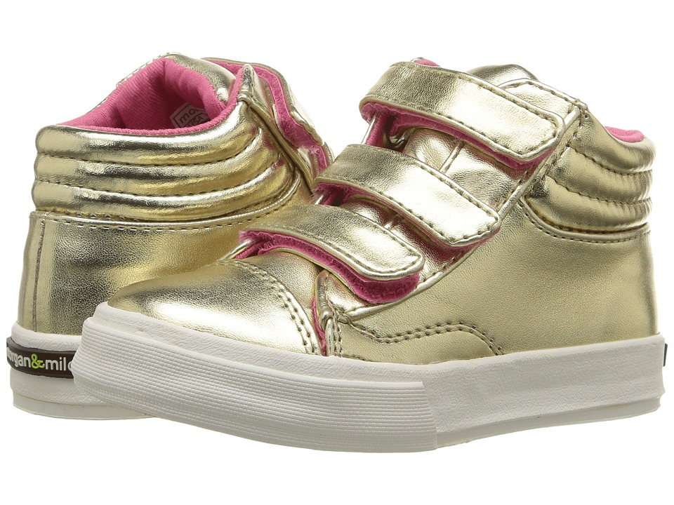Morgan&Milo Kids - Mix It Up Triple V (Toddler/Little Kid) (Champagne) Girls Shoes