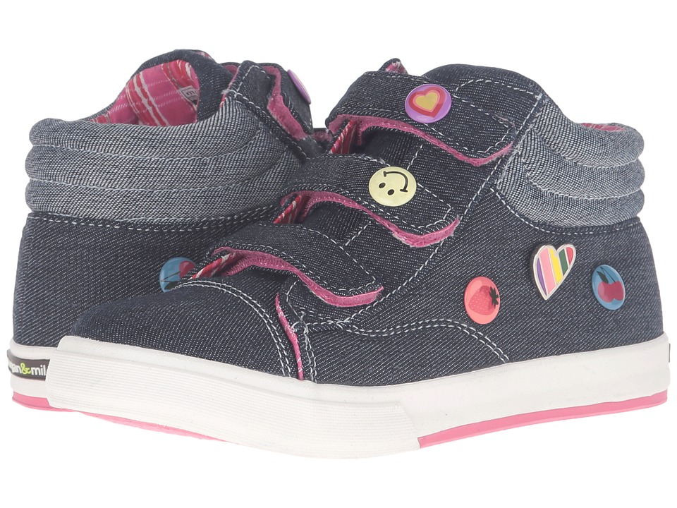 Morgan&Milo Kids - Mix It Up Triple V (Toddler/Little Kid) (Denim) Girls Shoes