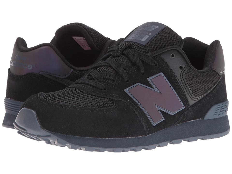 New Balance Kids - KL574v1 (Big Kid) (Black/Black Urban Twilight) Kids Shoes