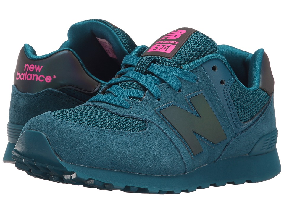 New Balance Kids - KL574v1 (Big Kid) (Teal/Teal Urban Twilight) Girls Shoes