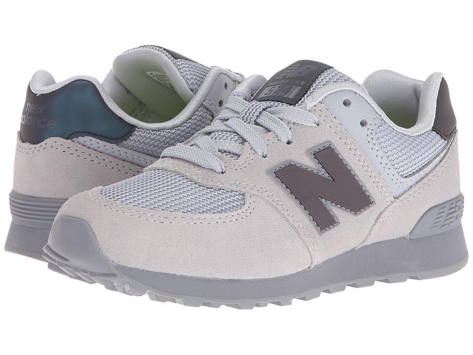 New Balance Kids - KL574v1 (Little Kid) (Grey/Grey Urban Twilight) Kids Shoes