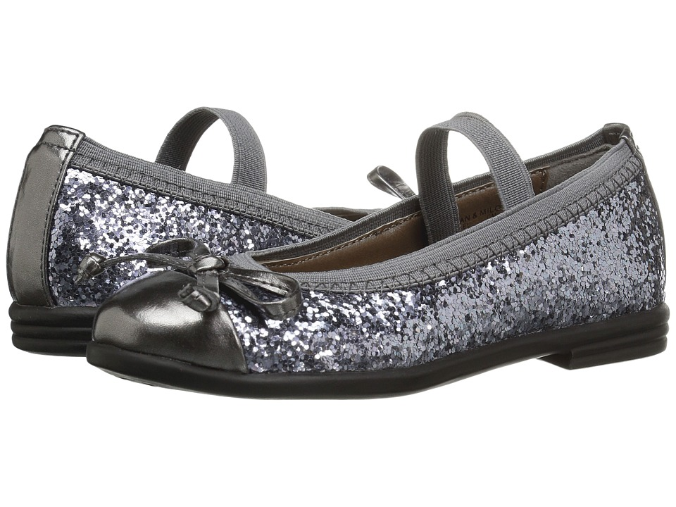 Morgan&Milo Kids - Jan Bow Mary Jane (Toddler/Little Kid) (Charcoal Grey) Girls Shoes