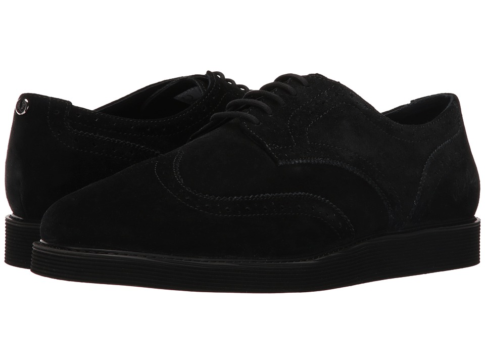 Fred Perry - Newburgh Brouge Suede (Black) Men's Shoes