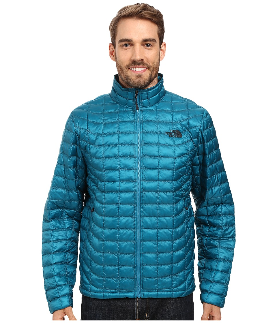 The North Face - ThermoBall Full Zip Jacket (Ocean Depths Blue) Men's Coat