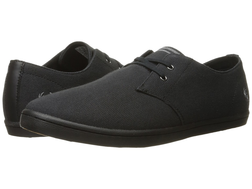 Fred Perry - Byron Low Twill (Black) Men's Shoes