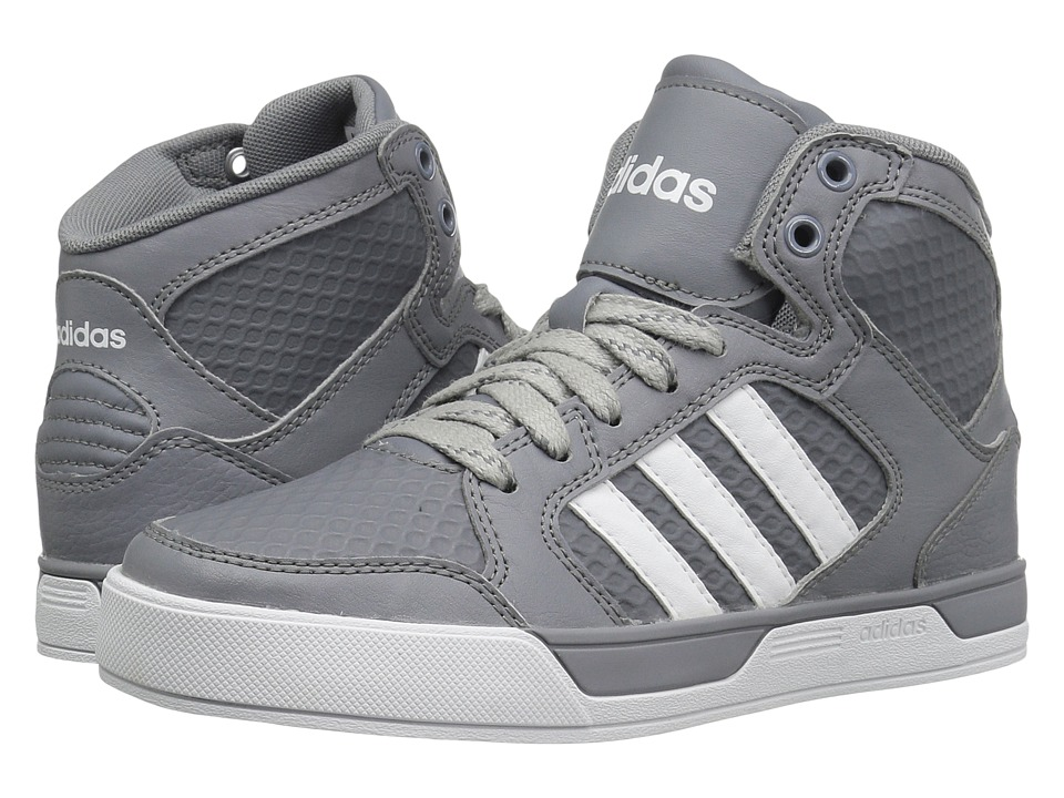 adidas Kids - Raleigh Mid (Little Kid/Big Kid) (Grey/White) Kid's Shoes