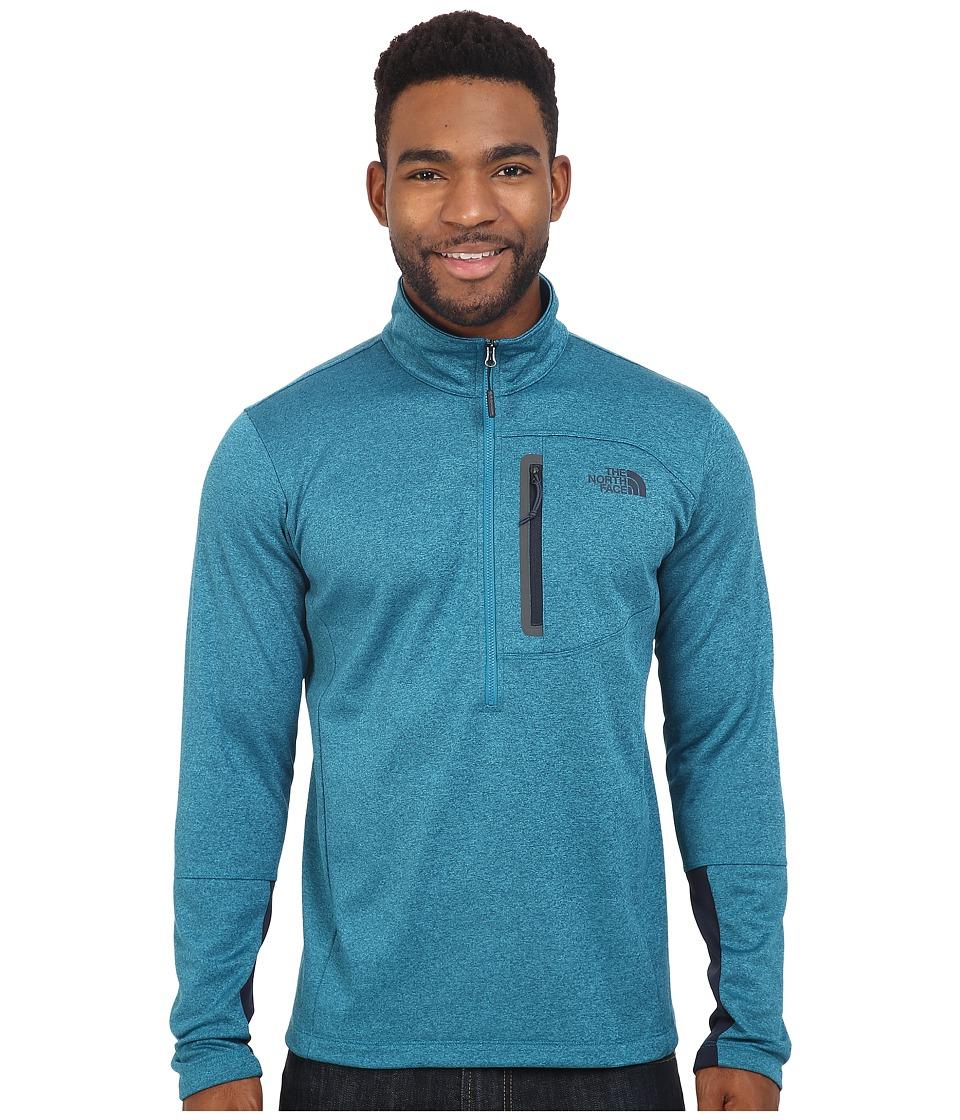 The North Face - Canyonlands 1/2 Zip Pullover (Ocean Depths Blue Heather) Men's Sweatshirt