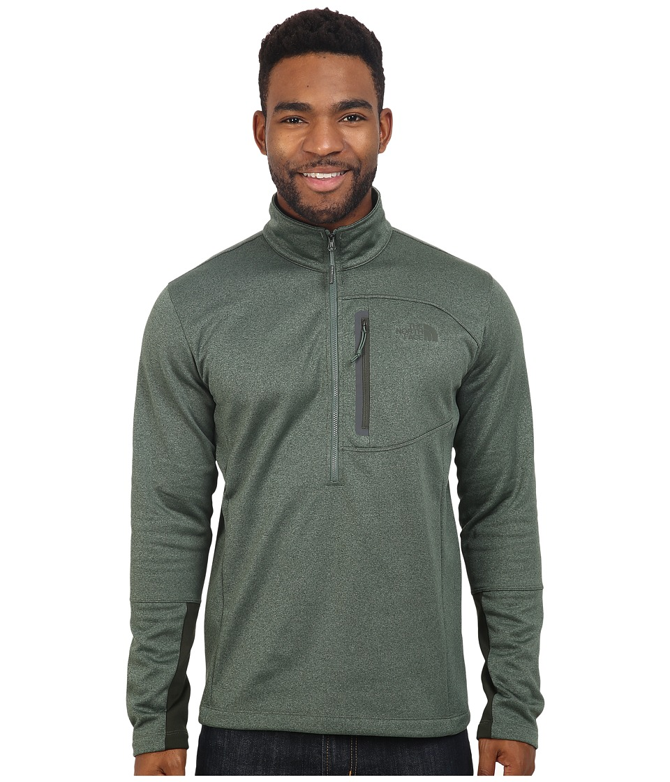 The North Face - Canyonlands 1/2 Zip Pullover (Duck Green Heather) Men's Sweatshirt