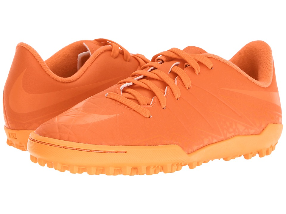 Nike Kids - Jr Hypervenom Phelon II TF Soccer (Toddler/Little Kid/Big Kid) (Bright Crimson/Hyper Orange/Total Crimson) Kids Shoes