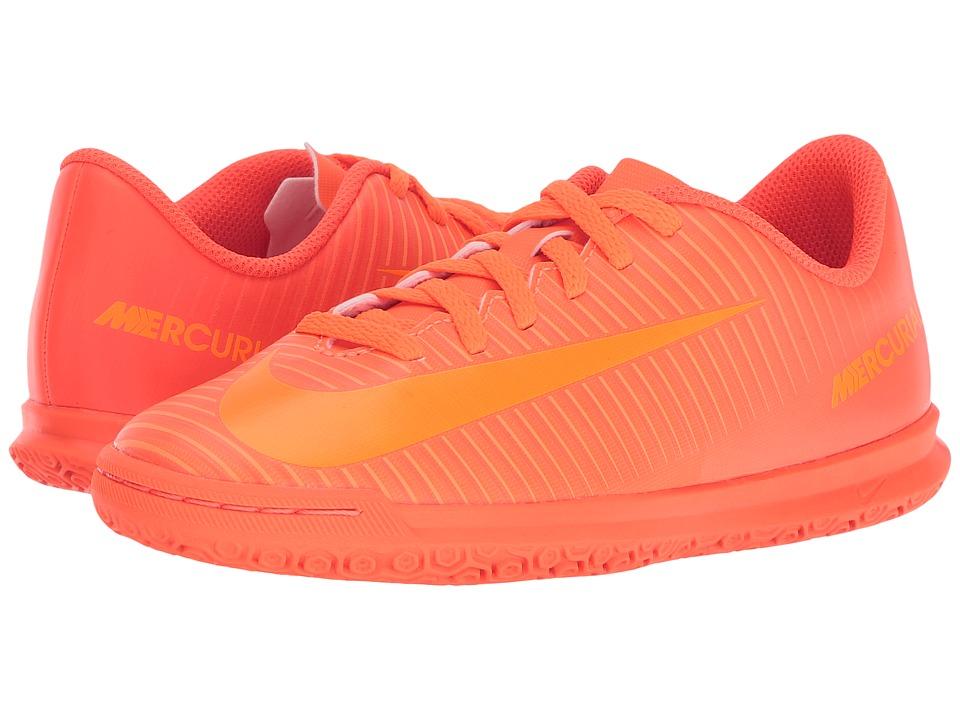 Nike Kids - Mercurial Vortex III IC Soccer (Little Kid/Big Kid) (Total Orange/Bright Citrus/Hyper Crimson) Kids Shoes