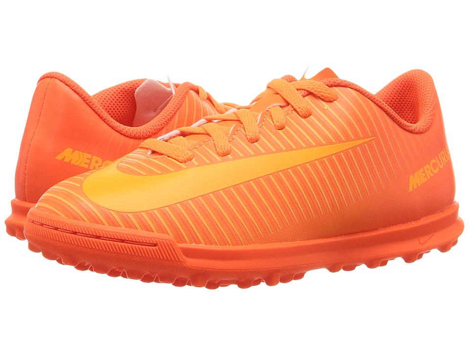 Nike Kids - Mercurial Vortex III TF Soccer (Little Kid/Big Kid) (Total Orange/Bright Citrus/Hyper Crimson) Kids Shoes