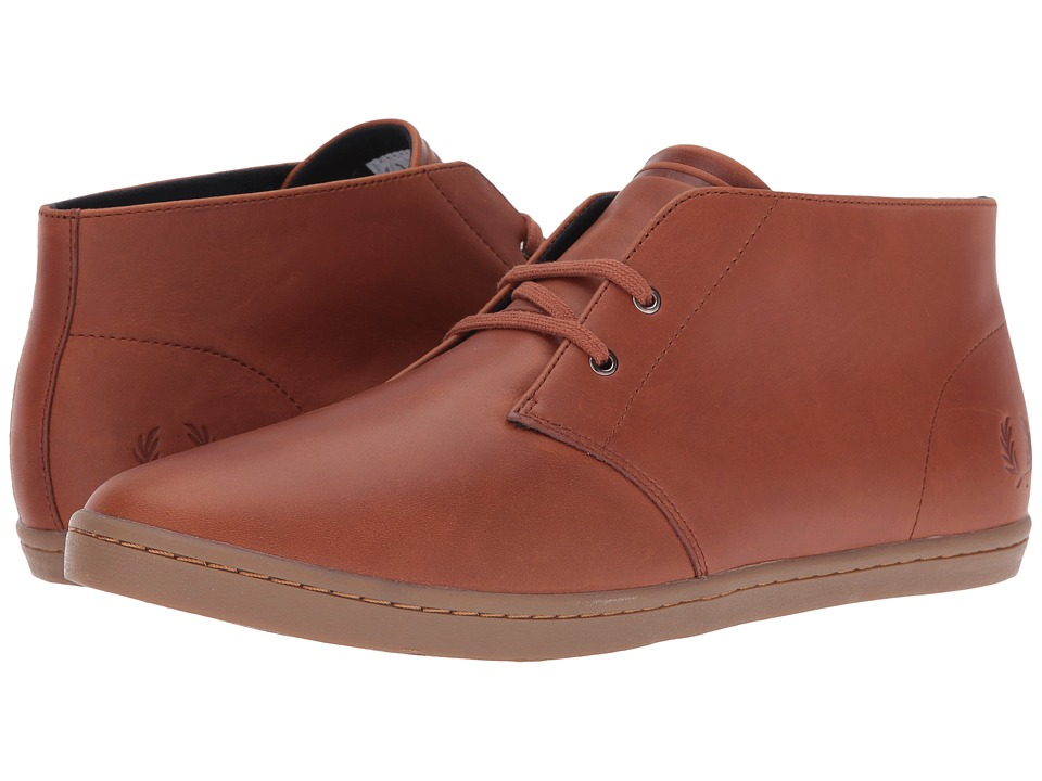 Fred Perry - Byron Mid Leather (Tan) Men's Shoes