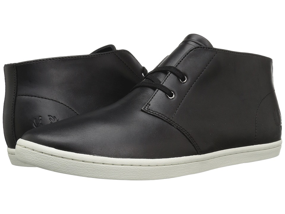Fred Perry - Byron Mid Leather (Black) Men's Shoes