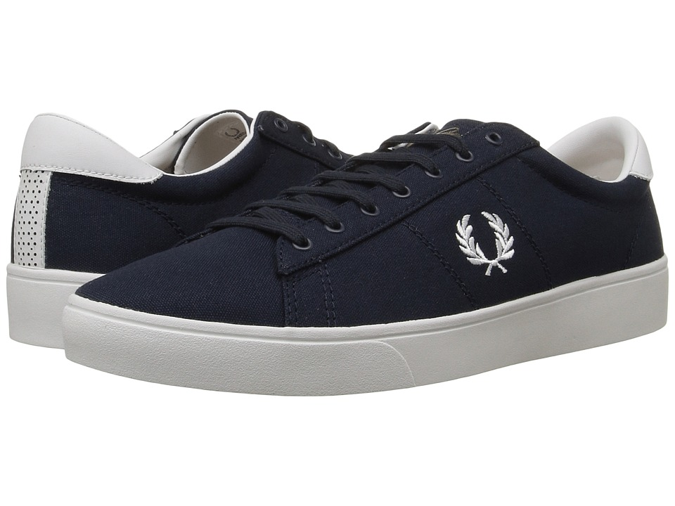 Fred Perry - Spencer Canvas (Navy/White) Men's Lace up casual Shoes