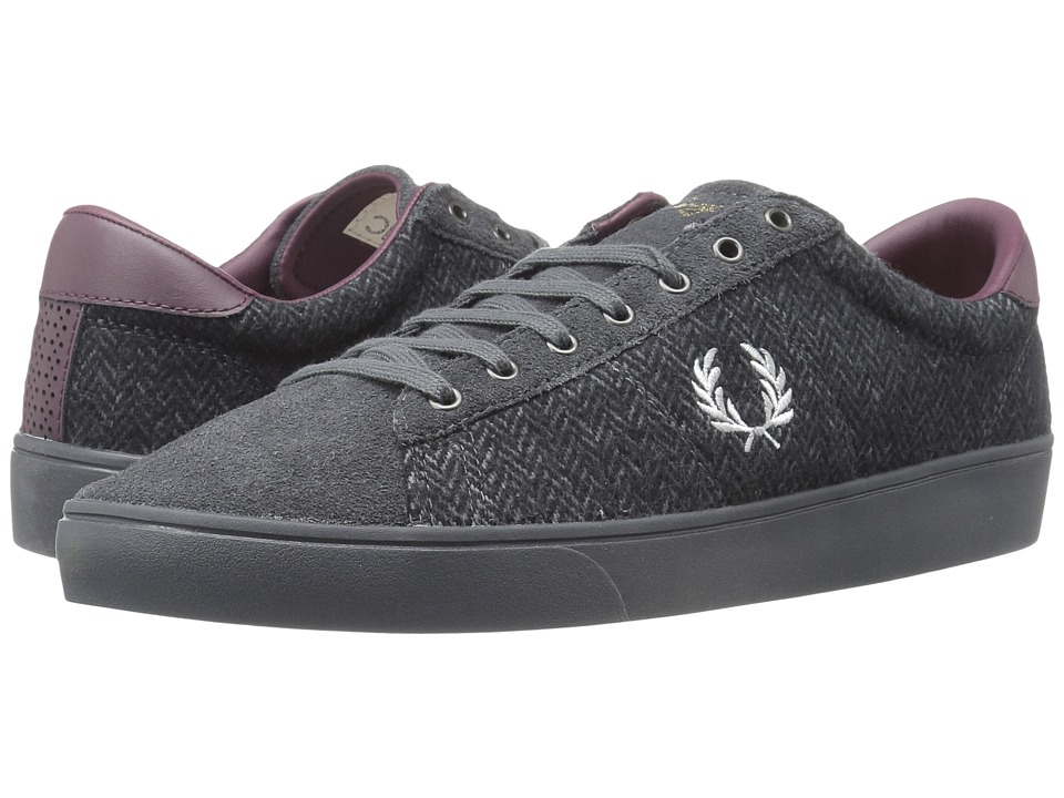 Fred Perry - Spencer Tweed Suede (Charcoal/Dolphin) Men's Shoes