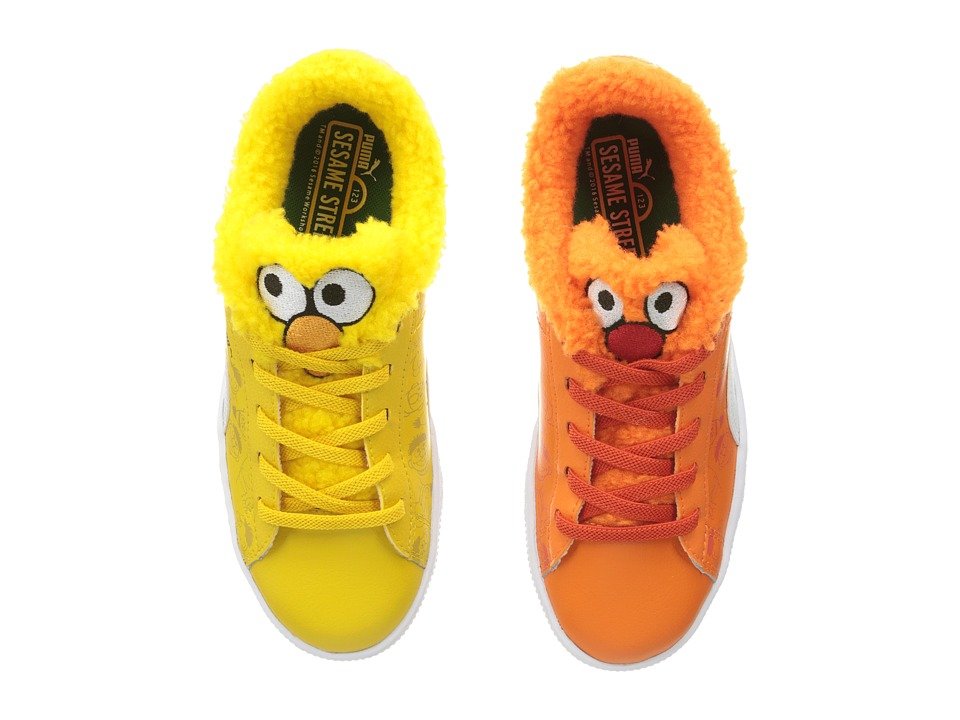 Puma Kids Basket Sesame Bert Ernie AC (Little Kid) (Dandelion/Vibrant Orange/Puma Black) Kids Shoes