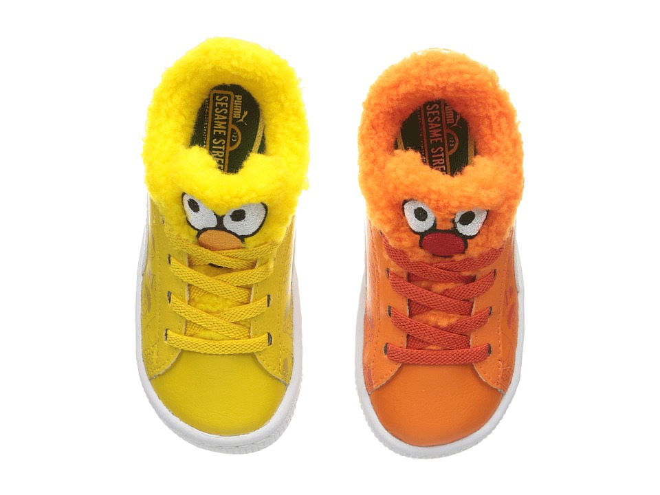 Puma Kids Basket Sesame Bert Ernie (Toddler) (Dandelion/Vibrant Orange/Puma Black) Kids Shoes