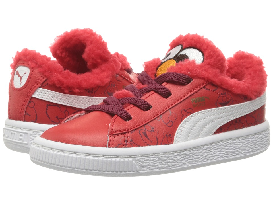 Puma Kids Basket Sesame Elmo (Toddler) (High Risk Red/Puma White) Kids Shoes