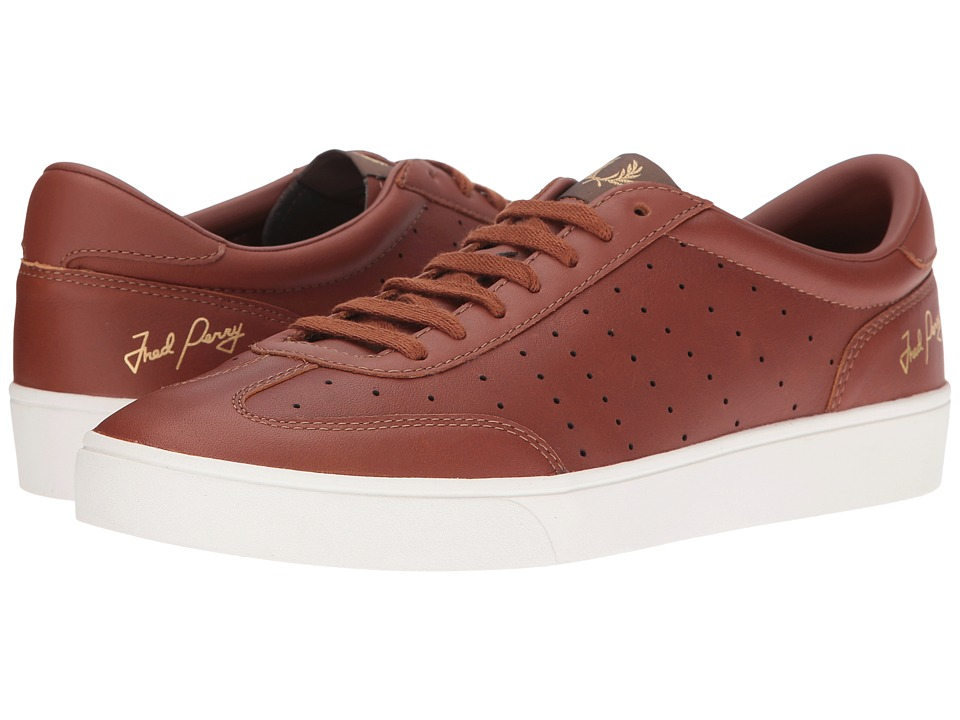 Fred Perry - Umpire Tumbled Leather (Tan) Men's Shoes
