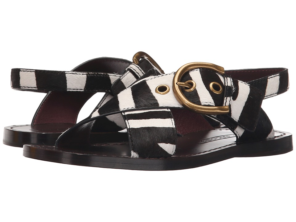 Marc Jacobs Patti Flat Sandal (Off-White Multi) Women