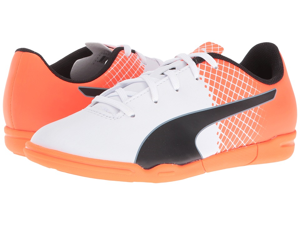 Puma Kids - evoSPEED 5.5 IT (Little Kid/Big Kid) (Puma White/Puma Black/Shocking Orange) Kids Shoes