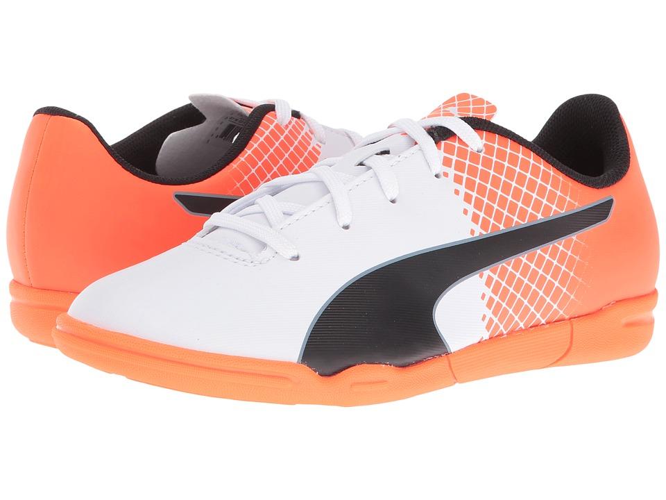 Puma Kids - evoSPEED 5.5 IT (Little Kid/Big Kid) (Puma White/Puma Black/Shocking Orange) Kids Shoes