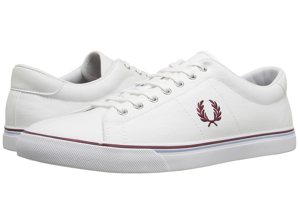 Fred Perry - Underspin Canvas (White) Men's Shoes